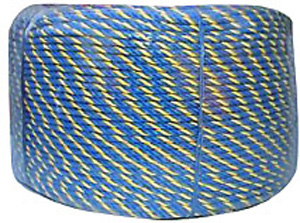 TrademateROPE TELSTRA BLUE/YELLOW 6MMX400MT COIL