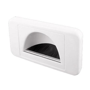 Laceys BULLNOSE WALL PLATE RECESSED WHITE