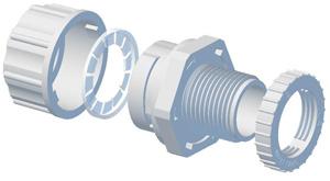 Plastic Bend FabricationsCORRUGATED CONDUIT GLAND 25MM-LOCK RING