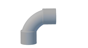 Plastic Bend Fabrications ELBOW 90 DEG 25MM SOLID GREY