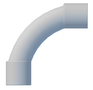 Plastic Bend Fabrications BEND 90 DEG 25MM GREY