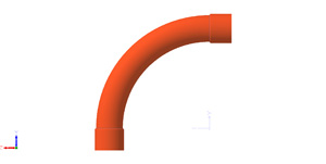 Plastic Bend Fabrications BEND SWEEP 90 DEG 32MM ORANGE