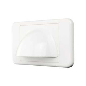 Clipsal WALL PLATE BULL NOSE WHITE