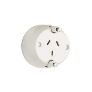 ClipsalSOCKET SURFACE WITH FIXING PLUGS