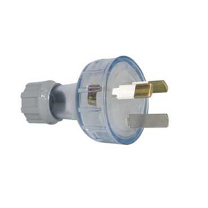 Clipsal PLUG TOP 3 INS. PIN 10A 250V TRANSPARENT