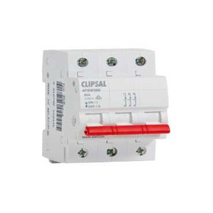 Clipsal ISOLATING SWITCH DIN MT.3 POLE 415V 80A