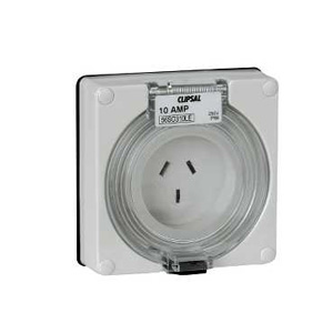 Clipsal INDUST SOCKET 250V 10A 3F PINS LESS ENCL