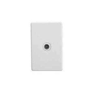 Clipsal TV SOCKET 75 OHM WHITE COVER & GRID