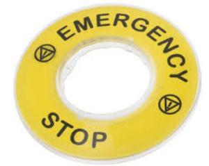 Telemecanique EMERGENCY STOP 3D LEGEND PLATE