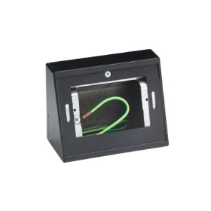 ModulineFLOOR PEDESTAL BOX BLANK 1 GANG BLACK