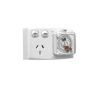 Clipsal TIMER ANALOGUE 24HR 250V 15A WHITE
