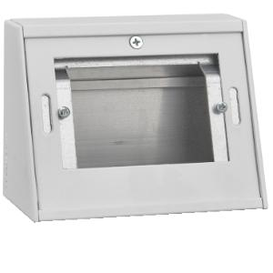 Moduline FLOOR PEDESTAL BOX BLANK 1 GANG WHITE