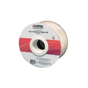 Clipsal CABLE TELEPHONE FLAT STRANDED 4C - 100M