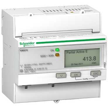Schneider ElectricTRIPHASE KWH METER CT PULSE MID
