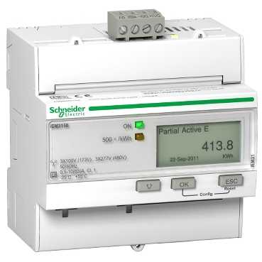 Schneider ElectricTRIPHASE KWH METER 63A MODBUS