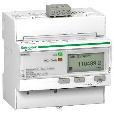 Schneider ElectricTRIPHASE KWH METER 63A MODBUS MID