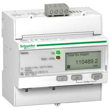 Schneider Electric TRIPHASE KWH METER CT MODBUS MID