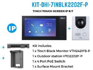 """DahuaKIT-7INBLK2202F-P 7"""" IP INTERCOM KIT"""""""