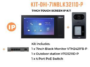 """DahuaKIT-7INBLK3211D-P 7"""" IP INTERCOM KIT"""""""