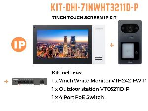 "DahuaKIT-7INWHT3211D-P 7"" IP INTERCOM KIT"""