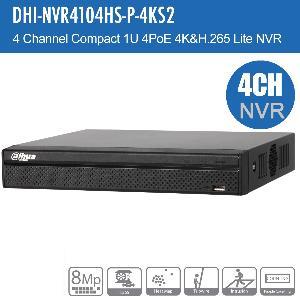 DahuaNVR4104HS-P-4KS2-2TB 4CH NVR 2TB 4P-POE