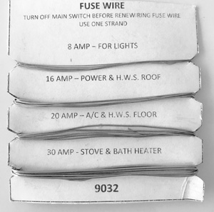 Stokes FUSE WIRE CARD 8A  16A  20A & 30A