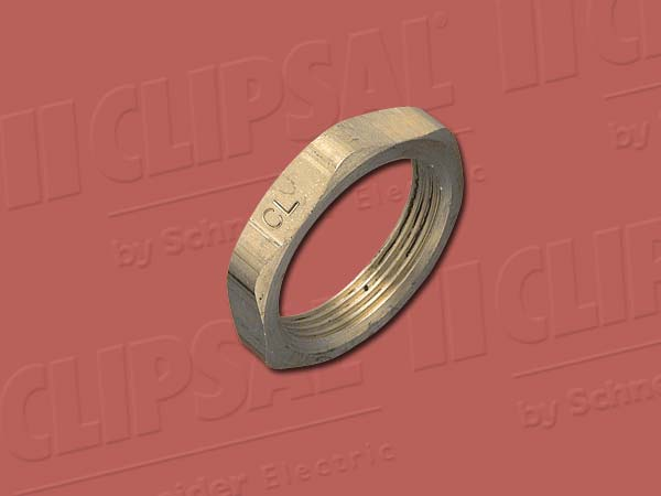 Clipsal LOCKNUT BRASS 32MM