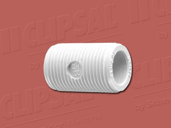 Clipsal SCREWED NIPPLE-16MM GREY