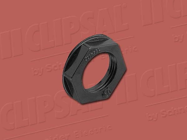 Clipsal LOCK NUT HEXAGON - 25MM BLACK