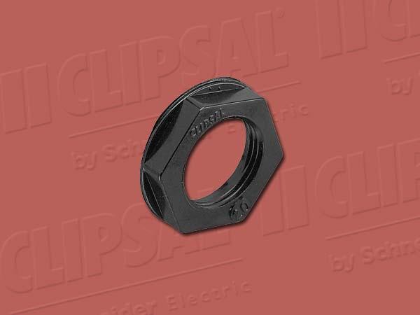 ClipsalLOCK NUT HEXAGON - 40MM BLACK