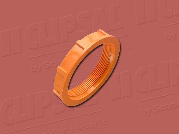 ClipsalSCREWED LOCK RING - 63MM ORANGE