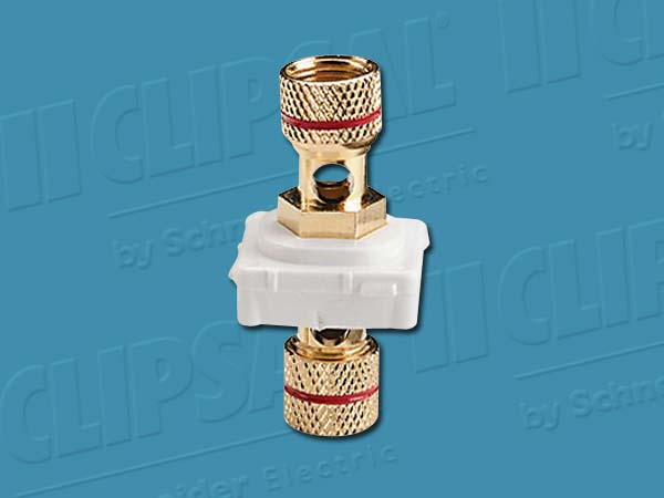 Clipsal BANANA CONNECTOR RED BAND WHITE MECH