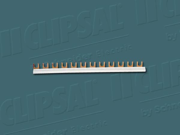 Clipsal INSULATED BUSBAR 1000mm 80A 3-Phases 12-Poles Copper Fork *Aust Brand