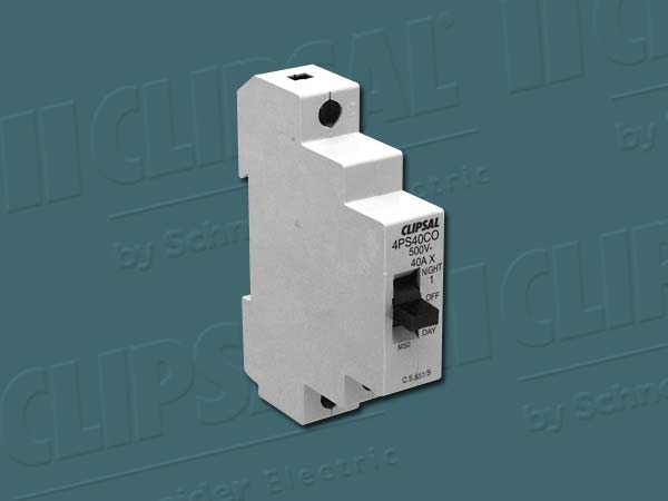 Clipsal ISOLATING SWITCH 1POLE 40A DAY/OFF/NIGHT