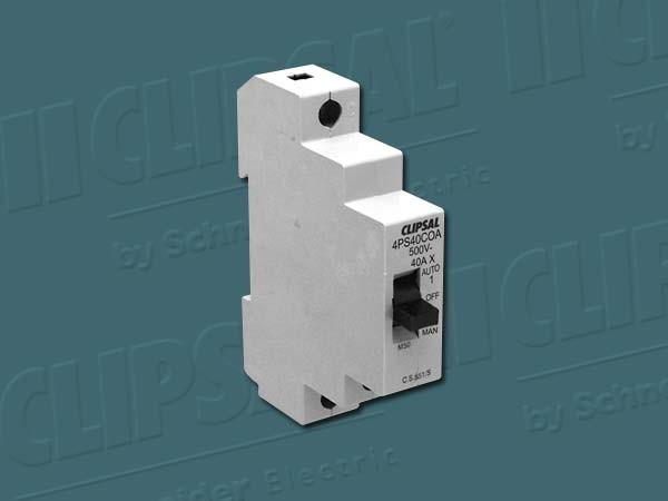 Clipsal ISOLATING SWITCH 1POLE 40A AUTO/OFF/MAN