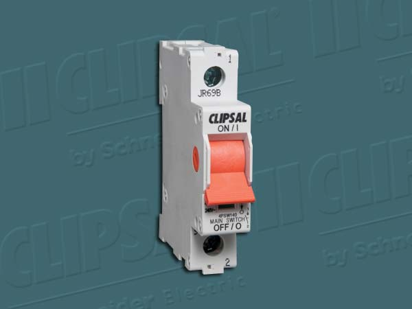 Clipsal ISOLATING SWITCH DIN MT.1 POLE 240V 40A