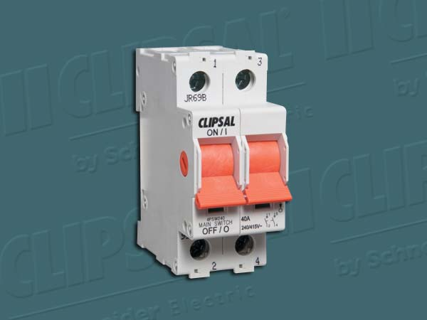 Clipsal ISOLATING SWITCH DIN MT.2 POLE 415V 40A
