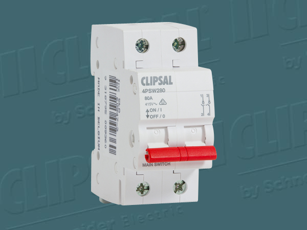 Clipsal ISOLATING SWITCH DIN MT.2 POLE 415V 80A