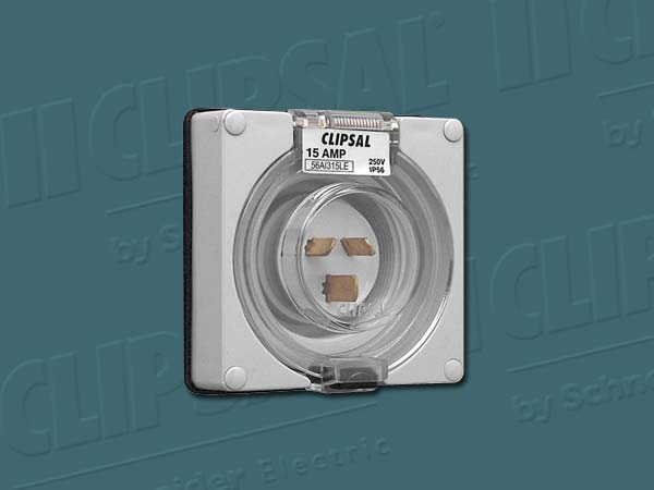 Clipsal APPLIANCE INLET 1PH 15A W/O BASE