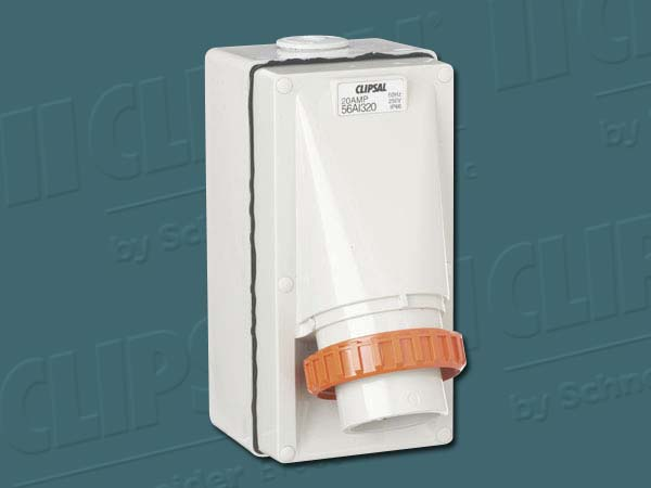 Clipsal APPLIANCE INLET 1PH 20 AMP GREY
