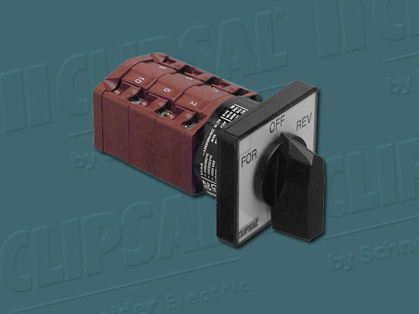 ClipsalSWITCH ROTARY CAM CONTROL 3P REVERSE 20A
