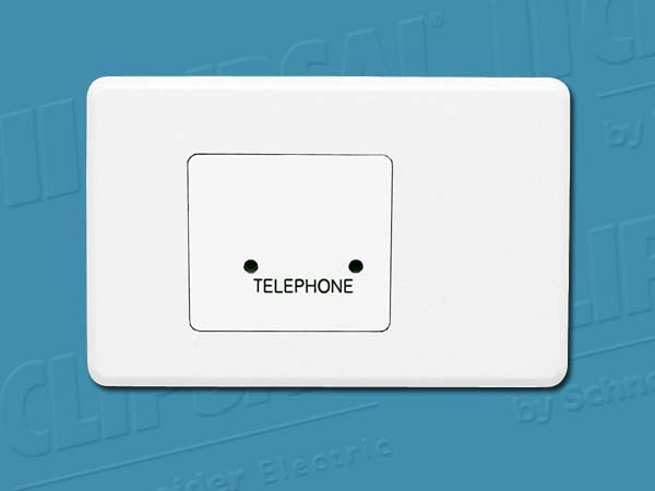 Clipsal TELEPHONE PLATE WHITE COVER & GRID