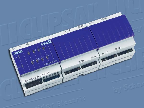 Clipsal C BUS DIN RAIL RELAY 8CH