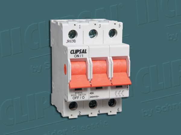Clipsal MAIN SWITCH DIN RAIL 3P 440V 40A 10KA