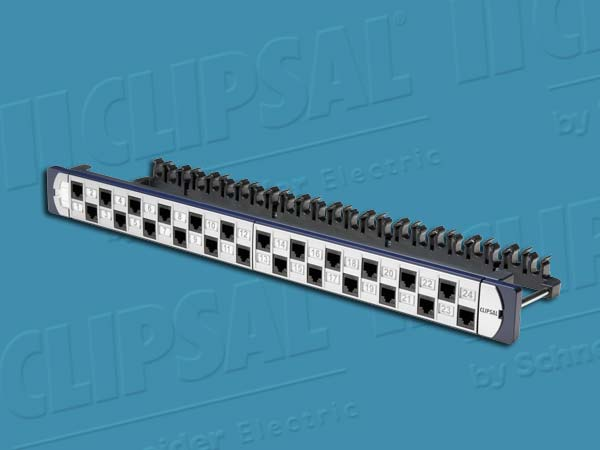 Clipsal PATCH PANEL 24 PORT CAT6A UTP